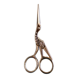 Stork embroidery scissors -...