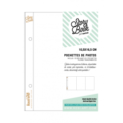 Leaflet with 3 full clear pockets - 10 x 16 cm