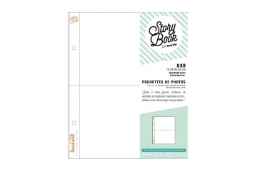 Photo pockets with 2 compartments - 6 x 8 in