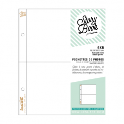 photo pockets with 2 compartments - 6X8