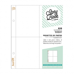 photo pockets with 4 compartments - 6X8