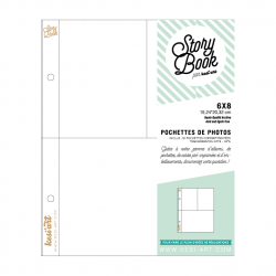 photo pockets with 3 compartments - 6X8