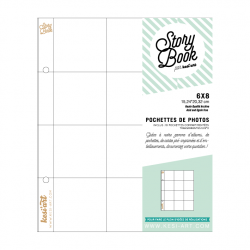 Photo pockets with 12 compartments - 6 x 8 in