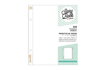 Pochettes transparentes à zip - 15 x 20 cm