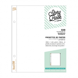clear pockets with zipper - 6X8