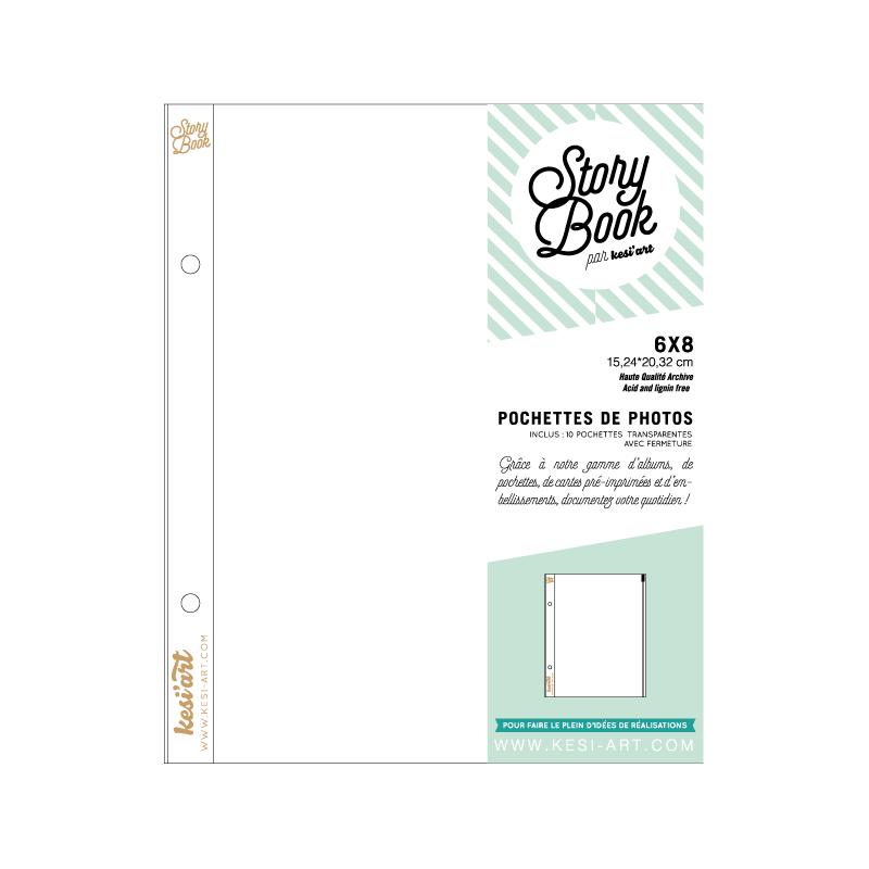 pochettes transparentes avec fermeture zip - 6X8