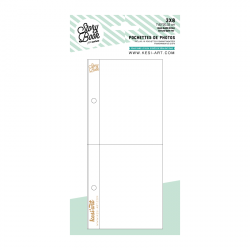 photo pockets with 2 compartments - 3X8