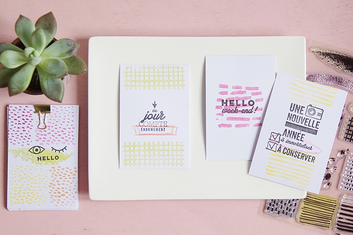 Stamping for greeting cards