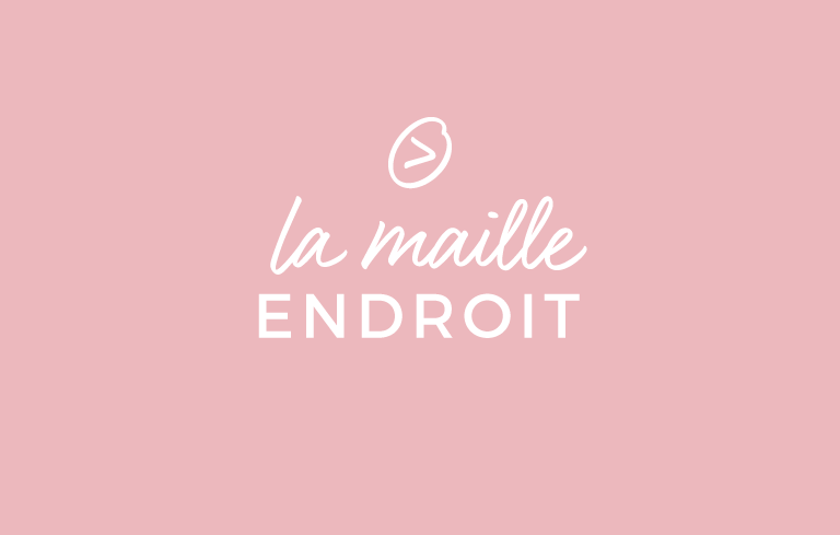 La maille endroit / Le point mousse