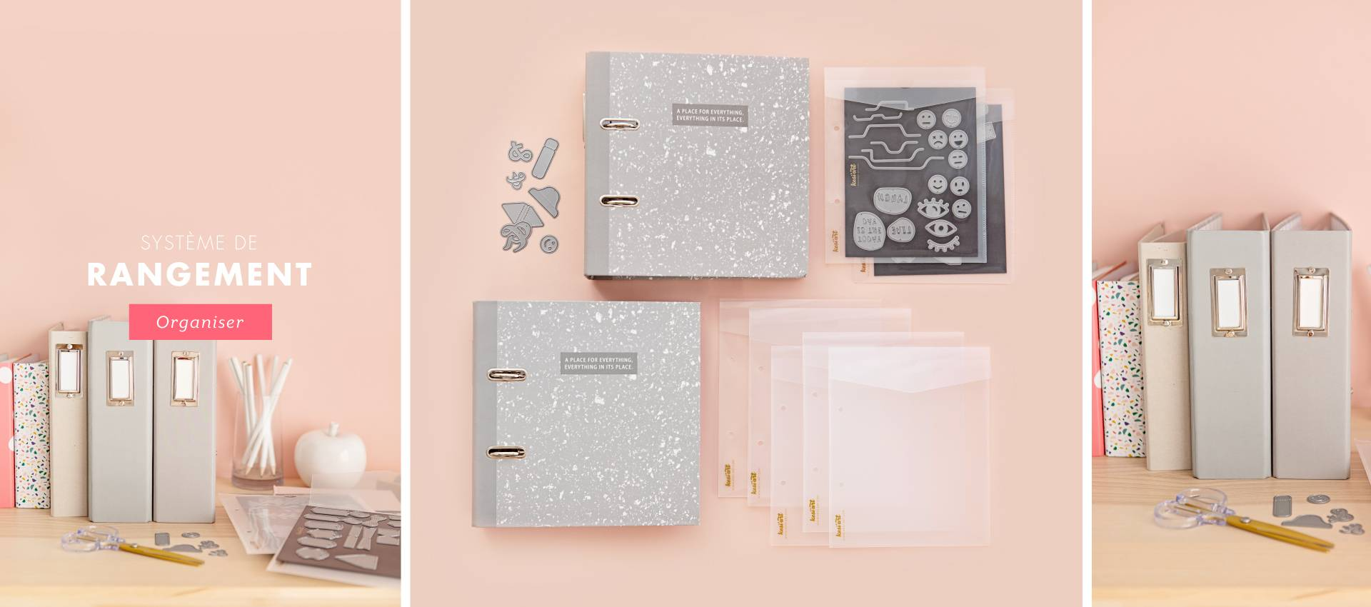 SYSTÈME DE RANGEMENT Kesi'Art pour tampons, matrices de découpe, stickers, étiquettes...