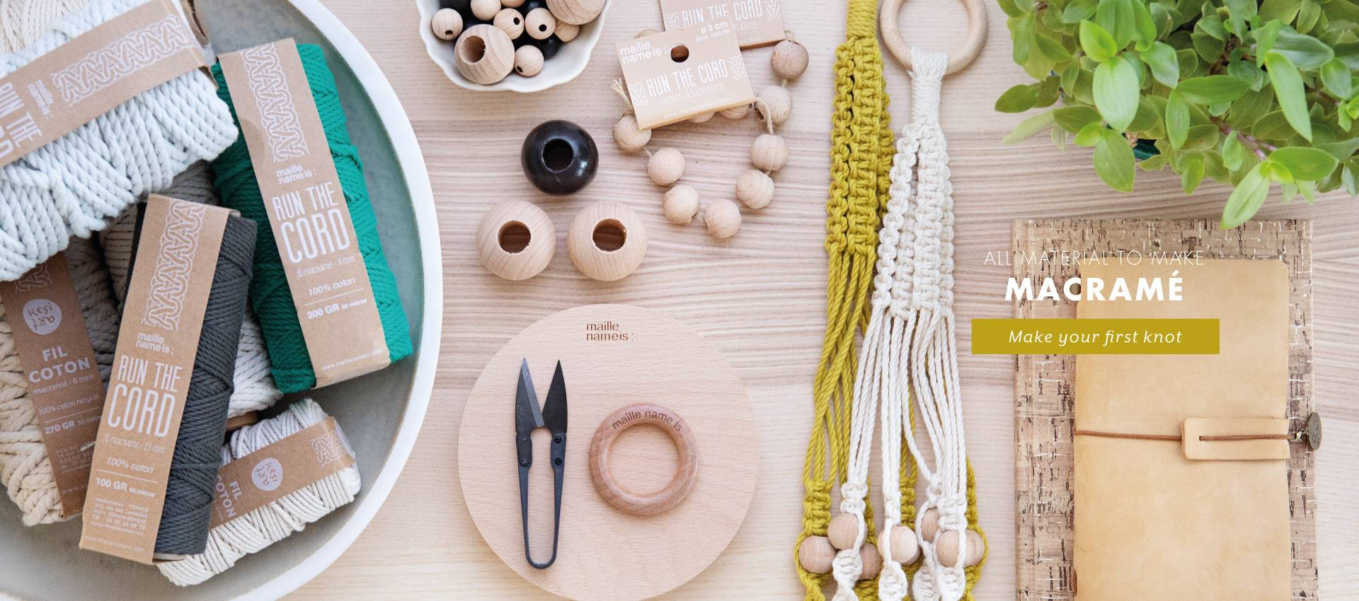 All supplies for Macrame are available online at Kesi'Art!