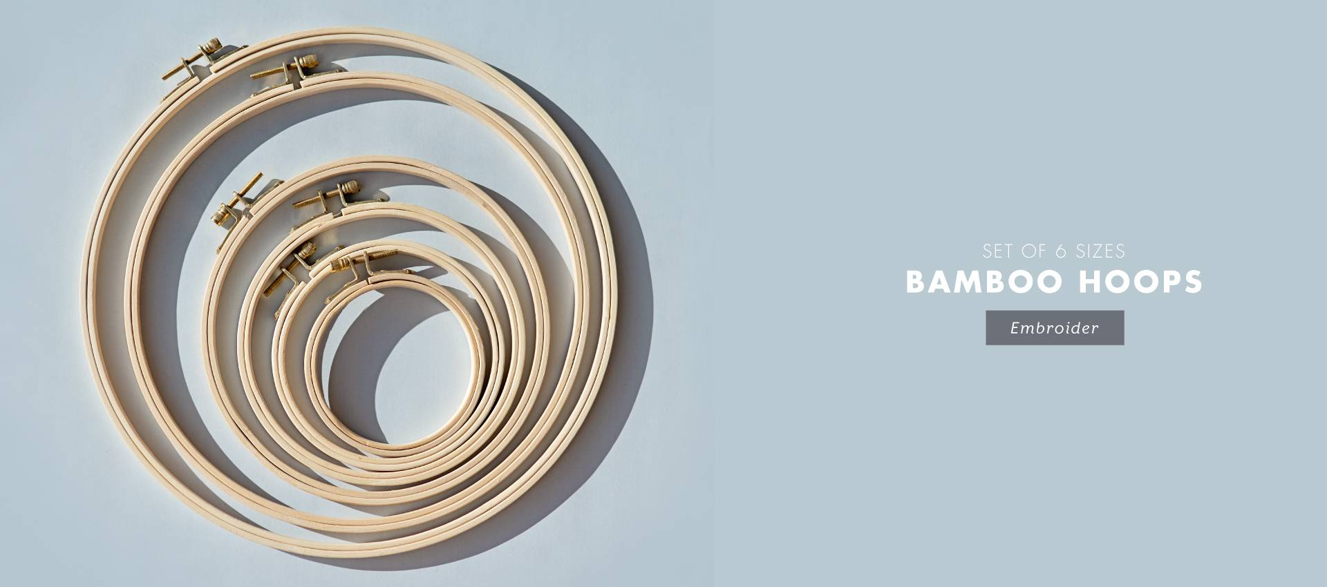 EMBROIDERY BAMBOO HOOPS: excellent value for money for a modern embroidery essential, cross stitch and punch needle