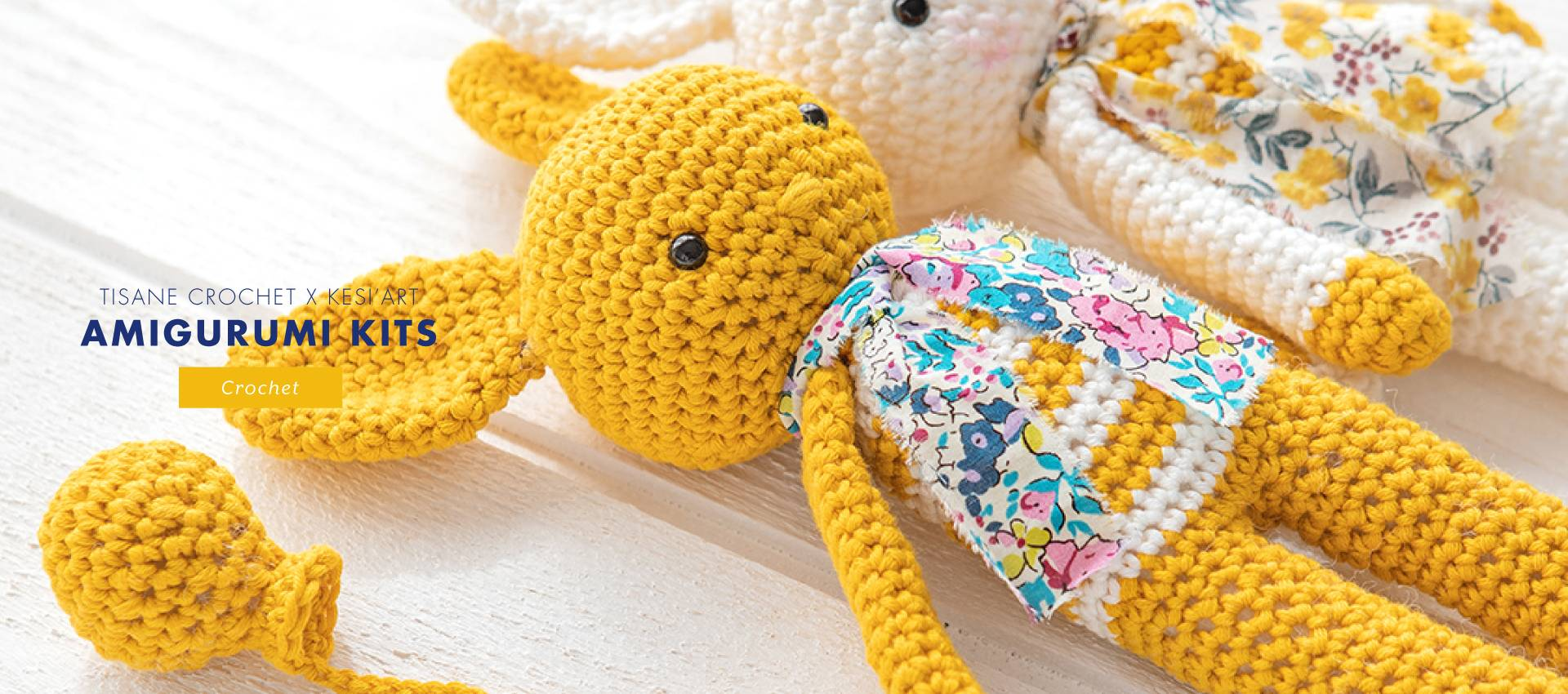 COLLAB 'TISANE CROCHET X KESI'ART: 3 adorable amigurimi crochet kits to crochet!