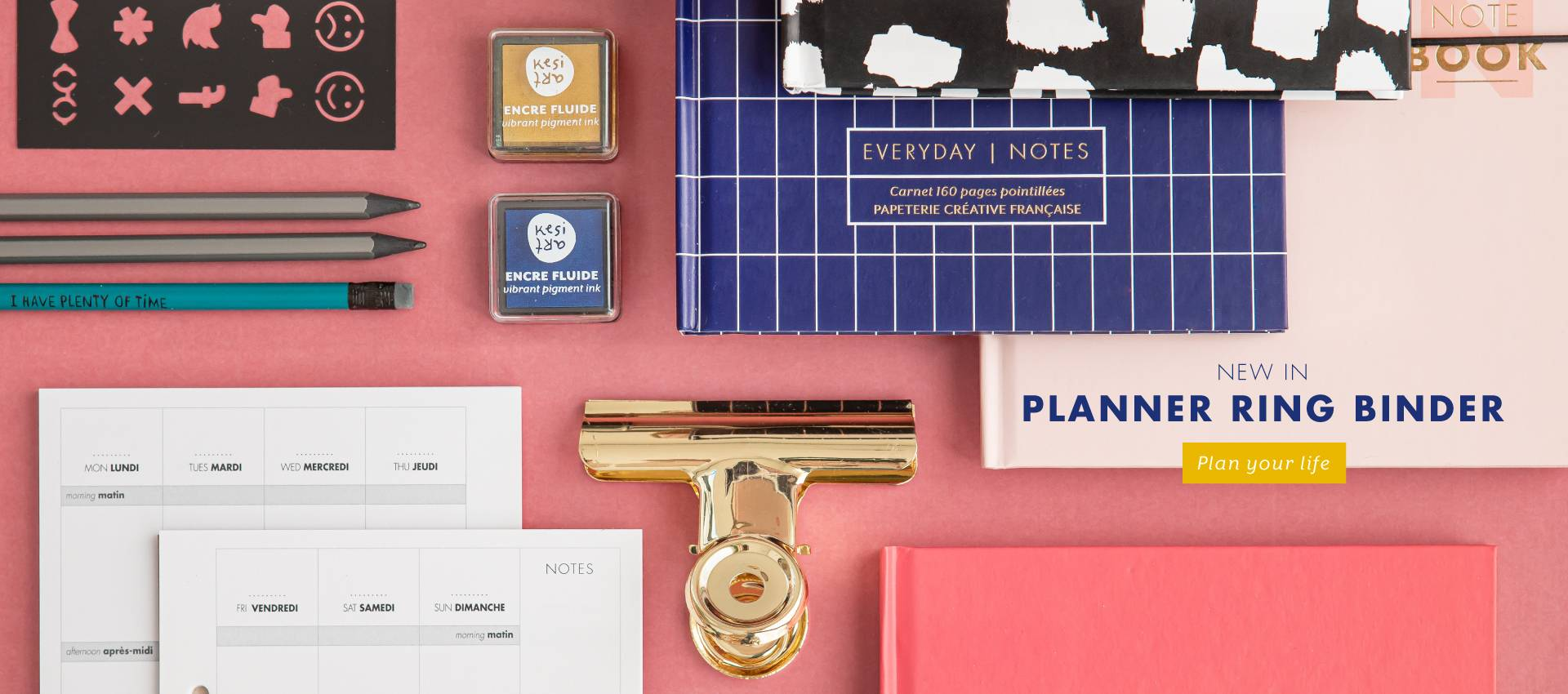 Diary in ring binder format: the planner to organize your life!