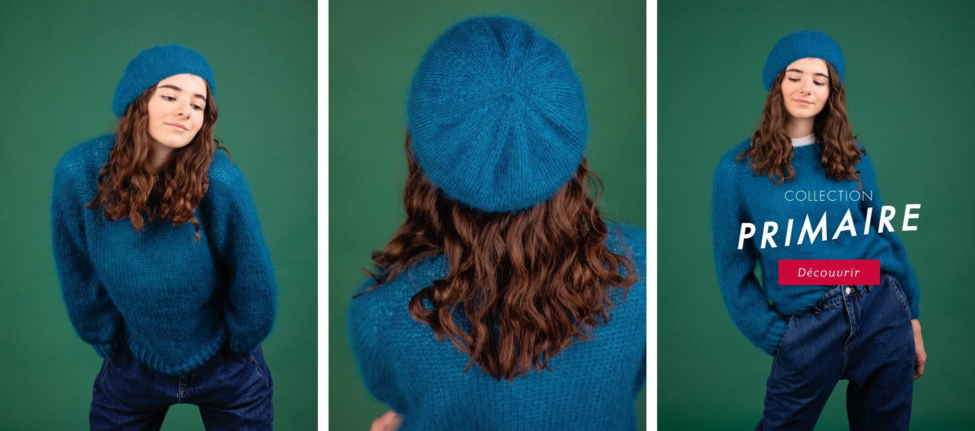 NOUVELLE COLLECTION PRIMAIRE : à tricoter, coudre, bijouter, broder... porter tout simplement !