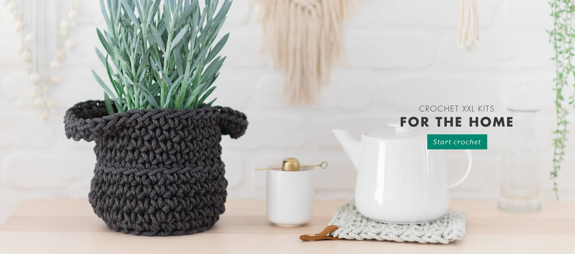 Ready-to-create: crochet kits for interior